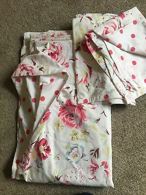 £47 • Buy Cath Kidston Double Duvet Cover And Pillowcases Grenwich Rose