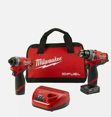 £245 • Buy Milwaukee M12 Impact Driver And Combi Drill Set