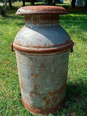 $69 • Buy Rustic Antique 10 Gallon Milk Can With Lid