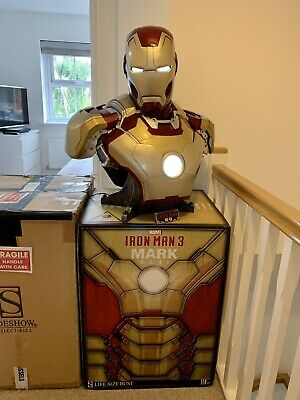 £850 • Buy Sideshow Collectables Iron Man 3 MK42 Mark 42 1:1 Scale Life Size Bust Statue