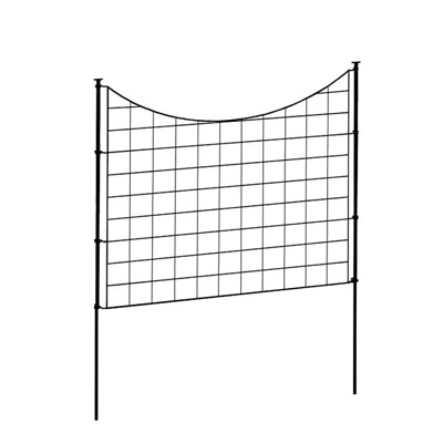 £66.64 • Buy 2.08 Ft. H X 2.46 Ft W Zippity Black Metal Garden Fence Panel With Stakes (5 Pac