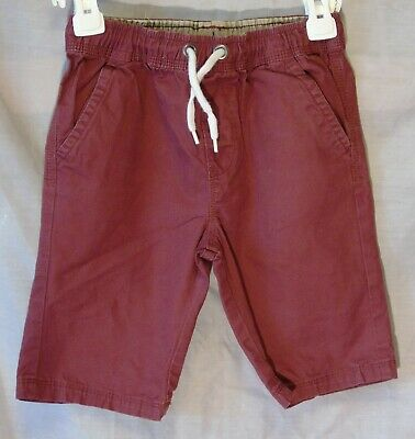 £6.95 • Buy Boys George Dusky Dark Red Chino Cotton Summer Board Shorts Age 6-7 Years