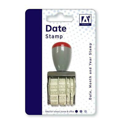 £2.99 • Buy Manual Rubber Date Stamp Stamper School Home Office Work 2019 To 2029
