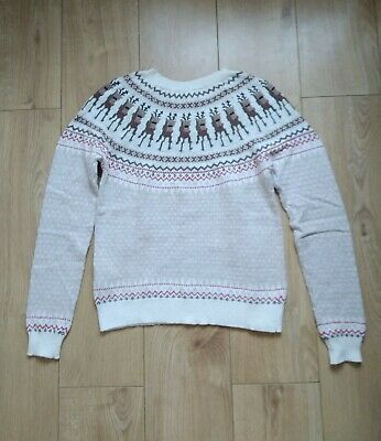 £14 • Buy H&M Christmas Jumper Rudolph Red Nose Black Bead Eyes Size S RRP £25