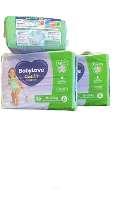 AU60 • Buy Baby Love Cosifit Size 6 Junior XXL 15-25kg 78 Nappies In 3 Bags Of 26