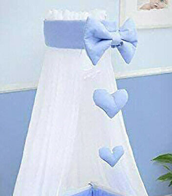 £19.99 • Buy Baby Drape Canopy Mosquito Net With Ribbon ONLY Fits Crib/Cradle Blue
