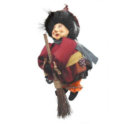 £18.99 • Buy Witches Of Pendle - Lavender Garden Witch Doll Flying Burgundy 20cm Collectible