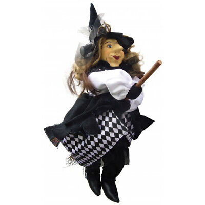 £34.99 • Buy Witches Of Pendle - Tizzy Witch Flying (Black & White) 35cm