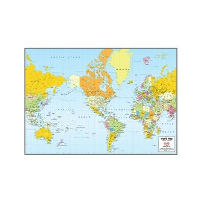 AU4.86 • Buy Map Of The World Canvas Print Poster Sizes