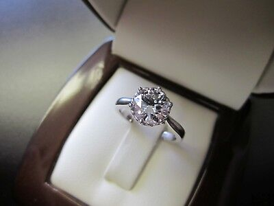 AU493.82 • Buy 2.00 Ct Round Cut Solitaire Diamond Engagement Ring 14K Real White Gold Rings