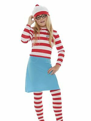 £20.75 • Buy Childs Where's Wally Costume Girls Wenda Fancy Dress Boys Book Day Outfit Kids