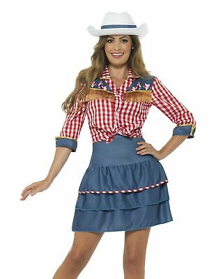 £22.70 • Buy Ladies Rodeo Doll Cowgirl Costume Dolly Parton Fancy Dress Womens Cowboy Outfit