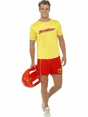 £24.30 • Buy Baywatch Beach Lifeguard Mens Fancy Dress Stag Party Costume 1980s