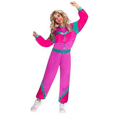 £17.24 • Buy Adult Shell Suit 1980's Costume Womens Fancy Dress Ladies Outfit