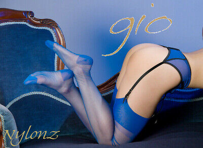 £9.95 • Buy GIO RHT Stockings / Nylons - ELECTRIC BLUE - Imperfects NYLONZ