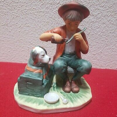$ CDN48.11 • Buy Norman Rockwell A Boy And His Dog Gorham Style 8179 Figurine Porcelain W/ Box
