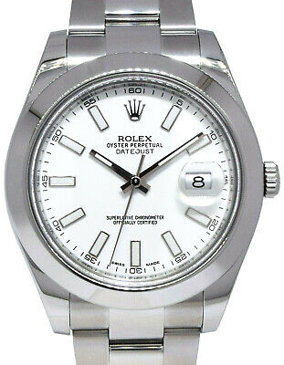 $ CDN11896.13 • Buy Rolex Datejust II Steel White Dial Mens 41mm Watch Box/Papers 2018 116300