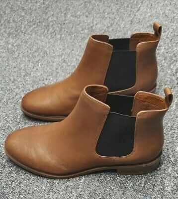 £50 • Buy Clarks Tan Leather Taylor Shine Ankle Boots SIZE UK 5 FIT D