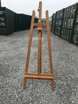 £95 • Buy Mabef Easel Made In Italy Wooden Artists Fully Adjustable Big Studio Lyre Easel