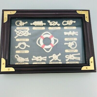 £29.99 • Buy French Nautical Sailing Ship Boat Sailor Frame Knots Shadow Box Picture Display