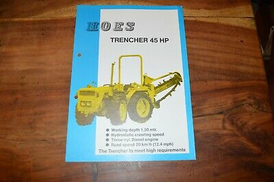 £14.99 • Buy Hoes Trencher 45HP Land Drainage Trenching Machine Leaflet (13)