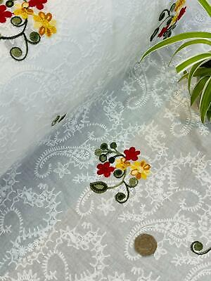 """£7.99 • Buy 🌷Broderie Anglaise On Cotton Lawn Fabric, Embroidered 56"""" Wide."""