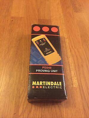 £65 • Buy Martindale 240V DC Proving Unit For 2 Pole Voltage & Continuity Testers PD240