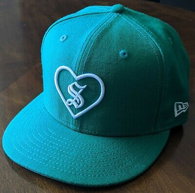 $ CDN112.04 • Buy New FW17 Supreme New Era Heart Fitted Hat 7-5/8 Green White