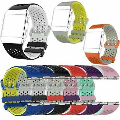 AU12.66 • Buy For Fitbit Ionic Silicone Replacement Sport Bracelet Watch Strap Wristband Band