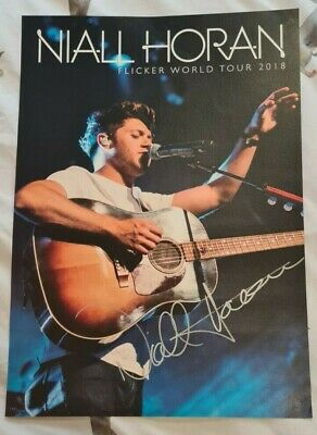 £50 • Buy Niall Horan Flicker Hand Signed Poster One Direction