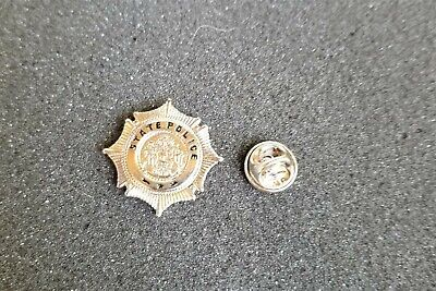 $9.99 • Buy Miniature Maine State Police All Metal Badge Lapel Pin 1