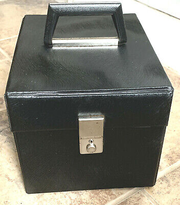"""£29.99 • Buy Large Vintage 7"""" Singles 45 Rpm Vinyl Record Carry Case Storage Box ~ Holds 110"""