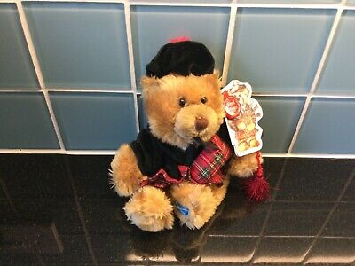 £14.95 • Buy Keel Toys Scottish Piper Teddy Bear Soft Toy NEW With Label Child Toy Scotland