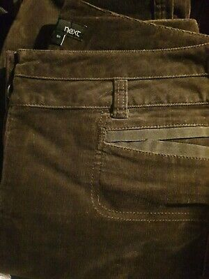 £14.50 • Buy Next Ladies Smart Brown Cord Trouser Bootcut Jeans 💦size 8