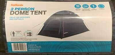 £18.50 • Buy Halfords 2 Person Dome Tent - Ideal For Festivals And Weekends Away (New/Sealed)