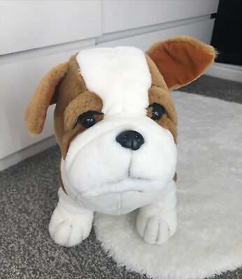 """£19.99 • Buy Keel Toys Simply Soft Bulldog Dog Brown Wrinkles Puppy Soft Toy Plush Large 16"""""""
