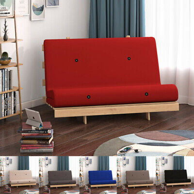 £106.98 • Buy 2ft6 / 4ft Futon Wooden Frame Single Or Double Sofa Z Bed Fold Mattress 6 Colour