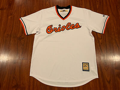 $44 • Buy Majestic Cool Base Mens Baltimore Orioles Cooperstown Retro Jersey Large L White