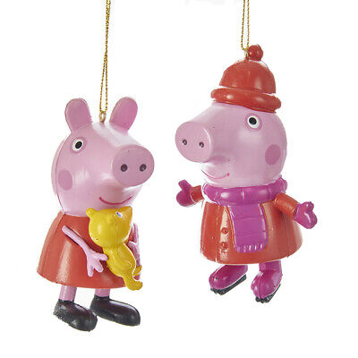 £13.59 • Buy Set Of 2 Peppa Pig™ Blow Mold Ornaments PA1161     W