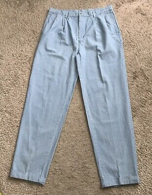 $39.99 • Buy NAUTICA Mens Size 38 X 34 Pleated Front Cuffed Vintage Blue Jeans 100% Cotton