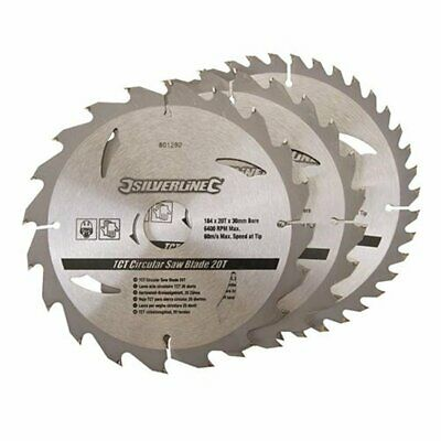 £17.30 • Buy 3 Pack 184mm TCT Circular Saw Blades To Suit NUTOOL NPT714-2