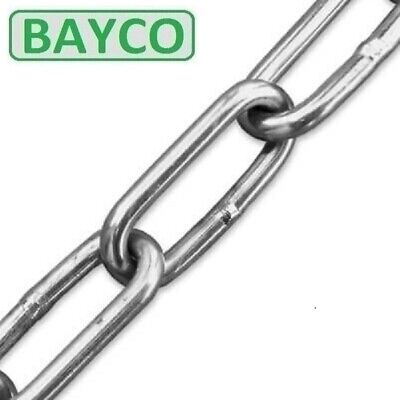 £3.78 • Buy 2mm Long Link Chain. Stainless Steel Grade A4 / 316  Marine. Cut Lengths