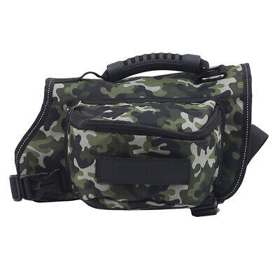 £9.83 • Buy Portable Saddle Bags Pet Dog Backpack Breathable Waterproof Sport Camouflage C