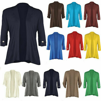 £9.99 • Buy New Ladies Button Up Short Sleeve Waterfall Cardigan Womens Cardigan Top 8-26