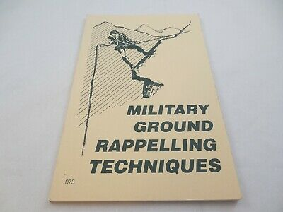 $24.95 • Buy Military Ground Rappelling Techniques 1993 Softcover Desert Publications