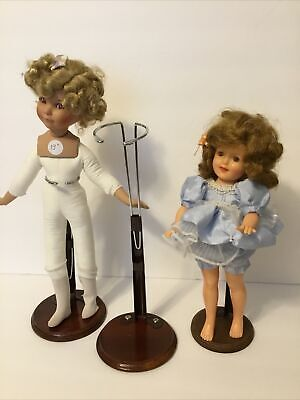 """£11.54 • Buy 3 Tall Clean Adjustable Doll Stands For 12""""-16""""Dolls Wood & Metal Or Plastic(S4)"""