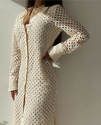 $69 • Buy Zara Woman Nwt Ss21 Fitted Openwork Embroidered Dress 4786/109 All Size
