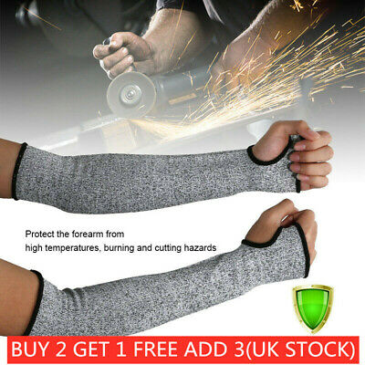 £7.29 • Buy 1 Pair Safety Protective Arm Sleeve Guard Cut Proof Anti Cut-Resistant Gloves