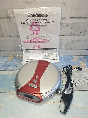 £14.95 • Buy Goodmans Personal CD Player GCD521RR Compact Disc Tested And Working