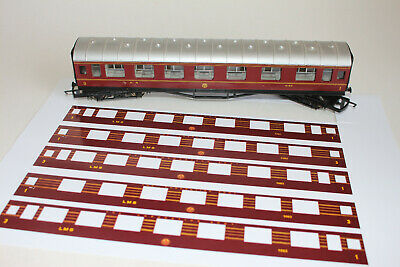 £25 • Buy LMS Coronation Scot Coach Render Kit 6 X Coaches Layover For LMS Hornby Coach